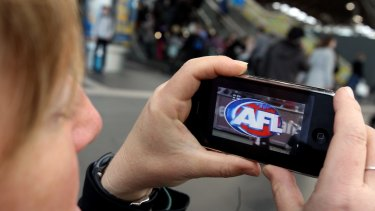Second screen: Carlton were the most popular team on the AFL app this season.