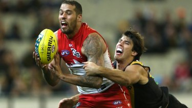 Alex Rance will again be charged with curbing Lance Franklin's influence.