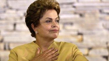 Under pressure: Brazil's President Dilma Rousseff.