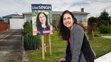 Labor Senator for Tasmania Lisa Singh, who might retain her seat despite being given 6th spot on Labor's ticket.