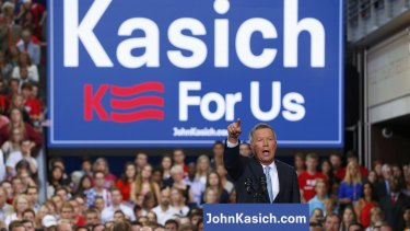 Republican US presidential candidate and Ohio Governor John Kasich.