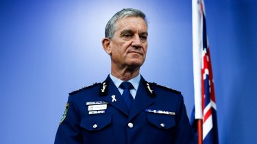 Police Commissioner Andrew Scipione at his retirement announcement on Thursday