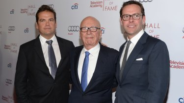 Co-chairmen Rupert and Lachlan Murdoch were both in Australia last month as the group finalised writedowns.