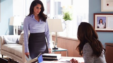 Meghan Markle, who is dating Prince Harry, as Rachel Zane in Suits.
