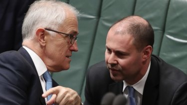 Environment and Energy Minister Josh Frydenberg with Prime Minister Malcolm Turnbull last month.