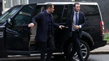 Chancellor of the Exchequer George Osborne arrives for the cabinet meeting.