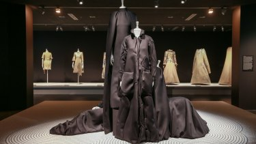Black gowns from the Zen Garden collection.