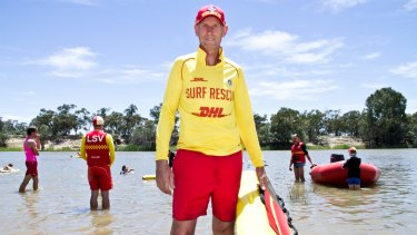 No waves but you can surf the wakes of paddle steamers: Greg Rhodes is Mildura Life Saving Club's first life member.