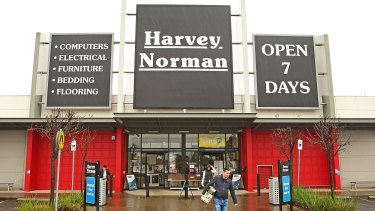 Gerry Harvey released 10-month sales figures for his retail network, showing 5.5 per cent total growth in total sales.