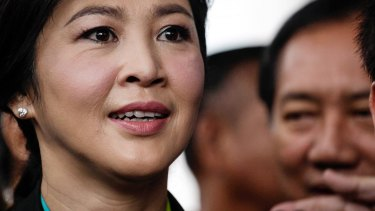 Ousted Thai prime minister Yingluck Shinawatra arrives at court earlier this month.