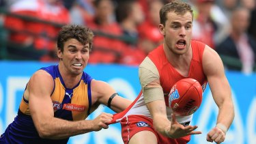Flying south: Tom Mitchell is headed to the Hawks' nest.