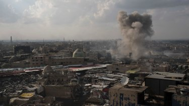 Fighting near the old city of Mosul in March.