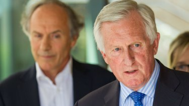 """John Hewson (right), has called Mr Van Oosten """"collateral damage"""""""