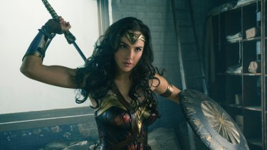Gal Gadot as Wonder Woman: the movie has smashed box-office records.