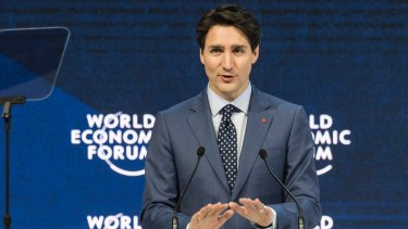 Justin Trudeau at the World Economic Forum in Switzerland in January.