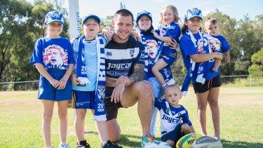 Best behaviour: David Klemmer wants children to have fun when playing their footy.