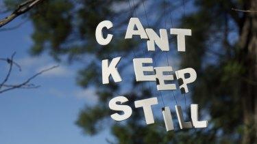 """Can't Keep Still"":"" street art by Sydney street artist Michael Pederson."