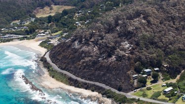 Wye River, savaged by bushfires last year, is suffering again with more landslides on the way.