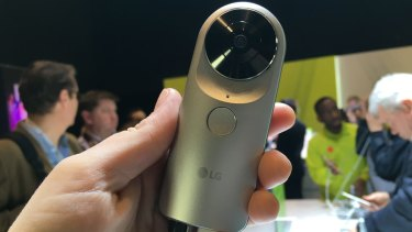 The LG 360 Cam can produce 360-degree videos for viewing on YouTube, Facebook or in VR.