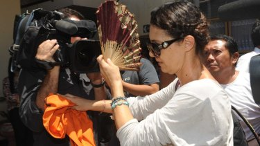Sara Connor arriving at Denpasar District Court on Tuesday.