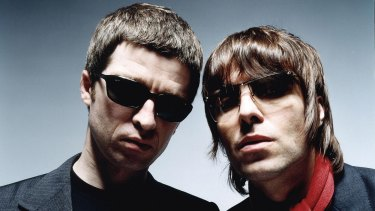 Noel Gallagher and brother Liam Gallagher in their Oasis days.
