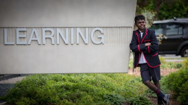Jordan Bourke has gone from fishing for barramundi and avoiding crocodiles at home on Melville Island to starting school at Brighton Grammar.