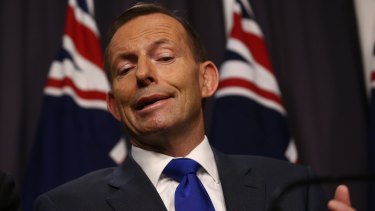 "Prime Minister Tony Abbott accused Labor of ""rolling out the red carpet for terrorists""."
