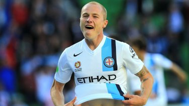 Valuable: Aaron Mooy celebrates a Melbourne City goal.