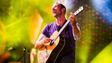 Chris Martin on the 70th show of Coldplay's Head Full of Dreams world tour.