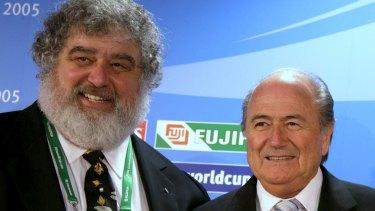 FIFA president Sepp Blatter (right) with Chuck Blazer in 2005.