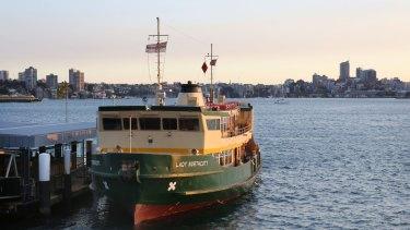 The Lady Northcott Ferry at Taronga Zoo Wharf.