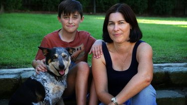 Lewis Newstead, 10, with his mother Tina. Lewis was initially treated for Lyme disease.