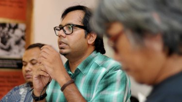 Human Rights activist Haris Azhar, who is facing a criminal defamation suit from the military and police.