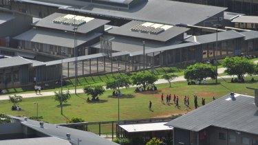 Christmas Island immigration detention centre.