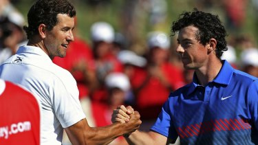 Top pair: Adam Scott and Rory McIlroy at last year's Australian Open