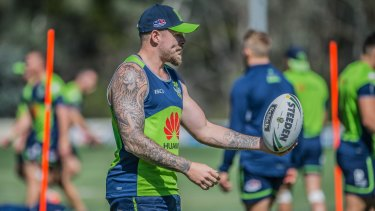 Canberra Raiders training, 7th March 2017. Blake Austin. ?Photo by Karleen Minney.