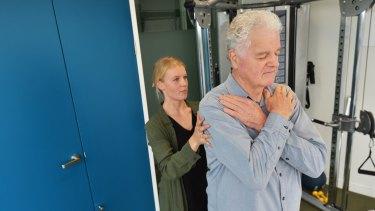 John Allison with exercise physiologist Thea Richardson
