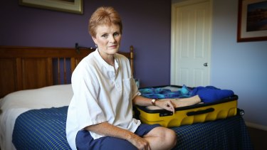 Elaine Brakspear in her Port Macquarie home. Elaine is disappointed with travel booking company Airbnb and their verification process after trying to book a trip to Europe. Pic: Lindsay Moller a