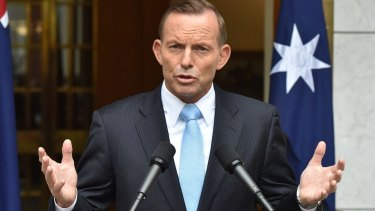 """Prime Minister Tony Abbott told colleagues that the government's approach to defence and security was popular with people in """"voterland""""."""