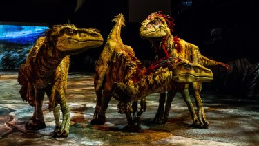 The massive animatronic creatures in Walking With Dinosaurs are the main attraction and remain a sight to behold.