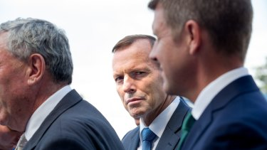 Prime Minister Tony Abbott and NSW Premier Mike Baird.