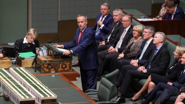Opposition Leader Bill Shorten delivers his budget reply on Thursday night.