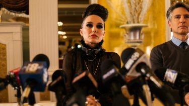 Natalie Portman in Vox Lux, which  tackles idol worship, the power of the image, and the relationship between glamour and violence.