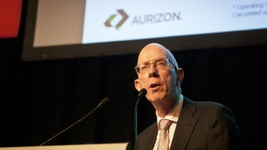 """Aurizon chief Lance Hockridge: """"Clearly we're operating in a tough and volatile market with lower growth conditions for our customers."""""""