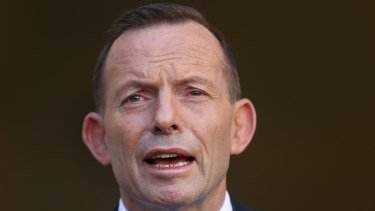 """Tony Abbott: """"he promised to end the soap opera, but the show goes on""""."""