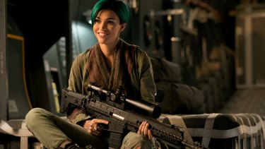 Ruby Rose says she shocked her trainers with how easily she picked up her sniper skills.