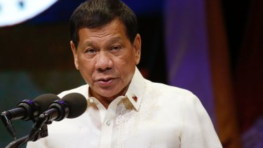 Philippine President Rodrigo Duterte has previously told police to shoot suspects.