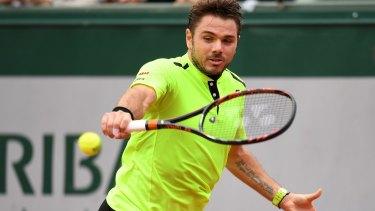 Stan Wawrinka of Switzerland on his way to victory over Alberto Ramos Vinolas at Roland Garros.