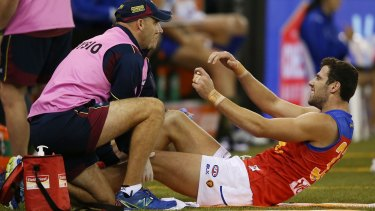 Michael Close required a knee reconstruction after an Etihad Stadium incident last year.