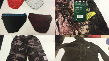 Underwear and camouflage gear requested by Islamic State fighter Mohamed Elomar.
